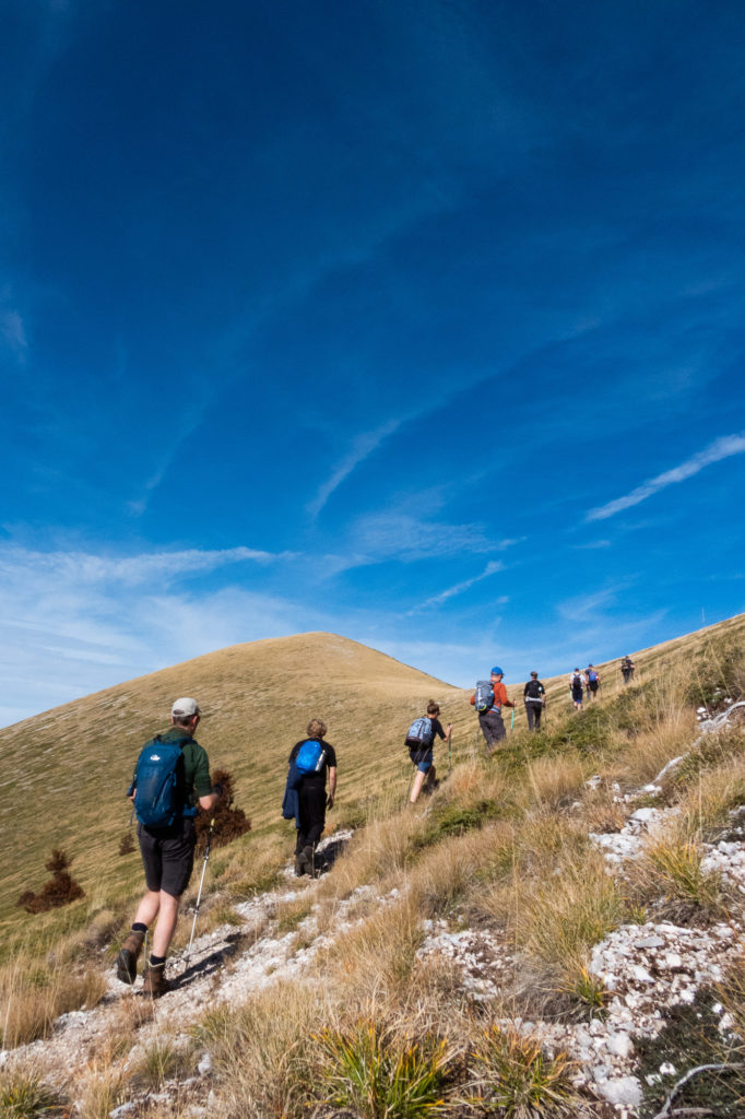 Trailgroep in Abruzzo