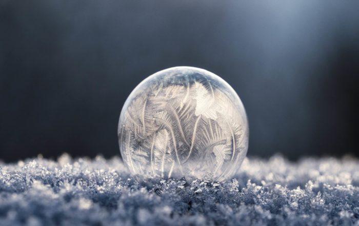 Reflectie winter kristal